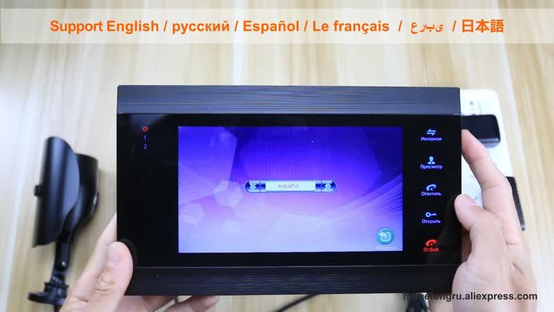 Homefong Проводной видеодомофон с камерой видеонаблюдения, поддержка инфракрасного ночного видения