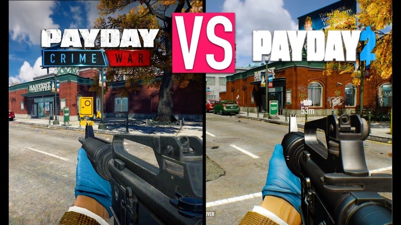 PAYDAY CRIME WAR VS PAYDAY 2 (GRAPHICS COMPARISON) - iOS/Android Gameplay