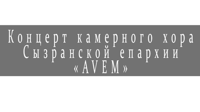 Концерт камерного хора Сызранской епархии AVEM