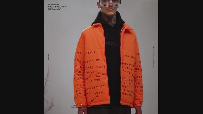 INFLATION Men's Warm Winter Jacket Casual Outerwear Letter Printing Thick Coat Men Orange Parka Male Fashion Casual Coat 8730W