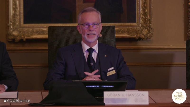 Announcement of the Nobel Prize in Chemistry 2018