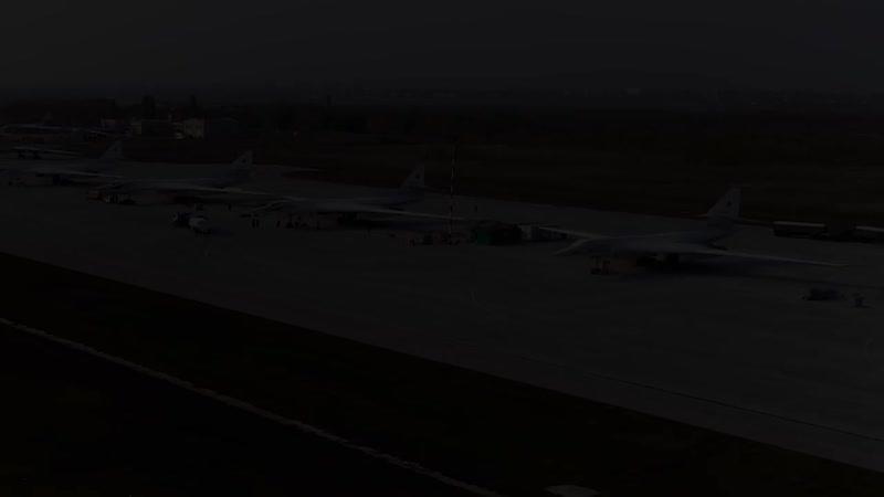 Ту 160М на боевой уходят от истребителей НАТО