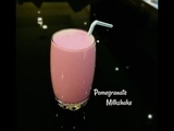Fresh and Delicious Pomegranate Milkshake-How to Make Homemade Pomegranate Juice With Milk(Healthy)