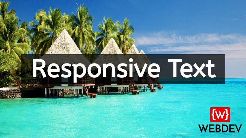Responsive font size using html and css
