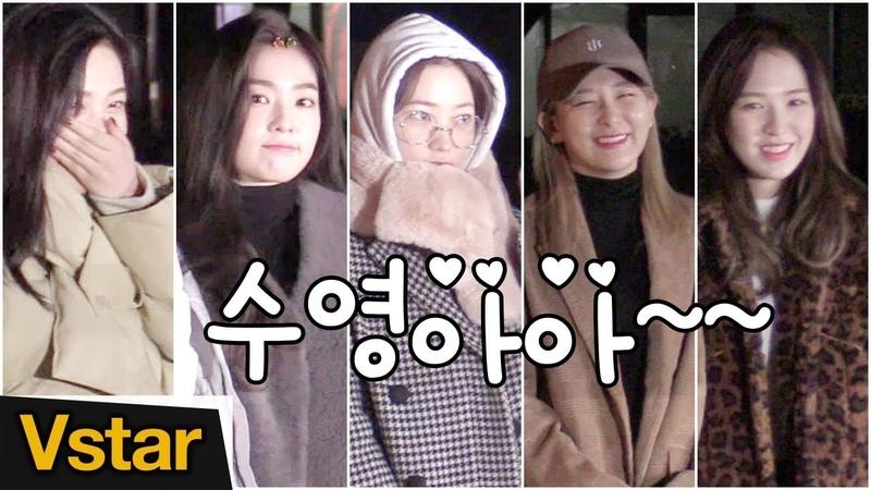 오늘도 레드벨벳(Red Velvet)을 웃게 해주는 '쩌렁맨' @ 181221 뮤직뱅크 출근길