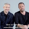 "Martin Freeman Online on Instagram ""MartinFreeman and @officialdannydyer talking about working together before PinterAtThePinter 📸 @jamielloydc..."