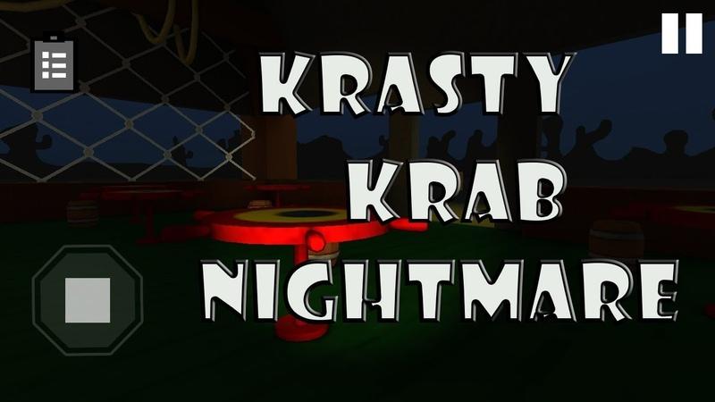 Прохождения1 Хоррор игра Krasty Krab Nightmare