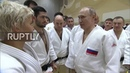 Russia: Putin injures his finger sparring judo with Olympic gold medal champ