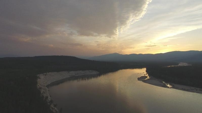 Река Муя на закате