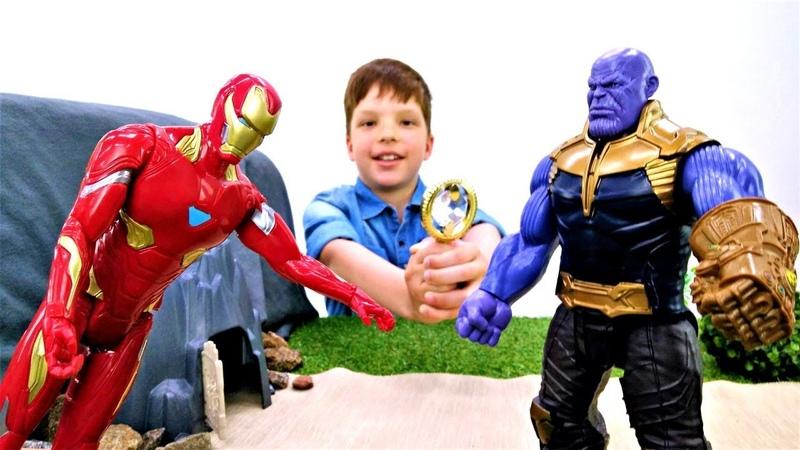 Супергерои vs Танос. Кристалл желаний. Мультики для мальчиков