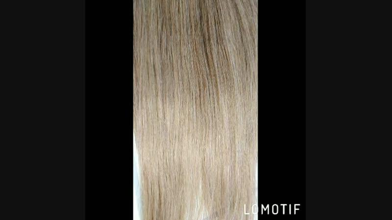 Волосики омбре 45-46 см-160 прядей. Жирный хвостик.