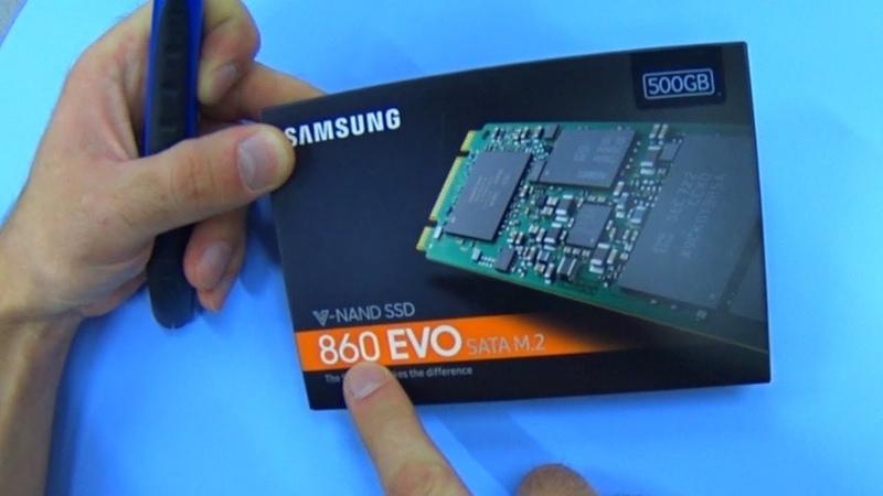 САМЫЙ БЫСТРЫЙ SSD SAMSUNG 860 EVO SATA m.2 V-NANO 500GB - тест скорости