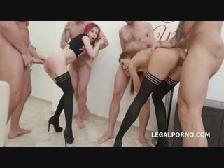 Double addicted with anal fisting tina kay  kira roller balls deep anal anal fist big gapes creampie to swallow