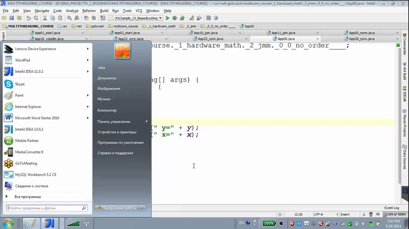 GolovachCourses: Java Multithreading 26.05.2014 Lecture 03