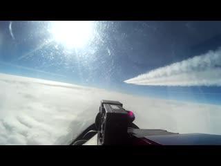 Перехват цели истребителем Су-27 над нейтральными водами Балтийского моря