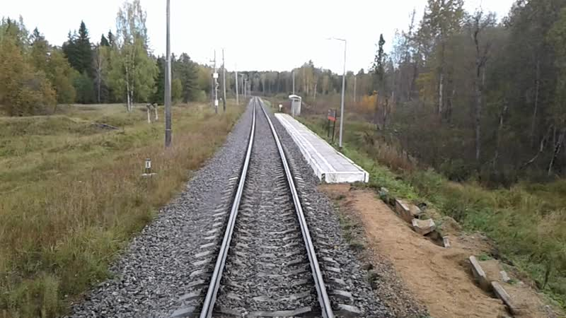 Отправление от остановочного пункта 14 километр. Бологое-Полоцкая железная дорога.