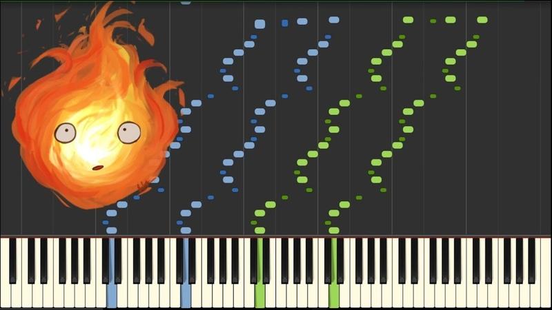 Howl's Moving Castle Theme 2.0 [Piano Tutorial] (Synthesia) Kyle Landry MIDI