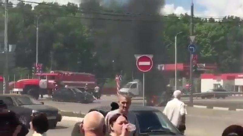Авария в Строителе Мотоцикл въехал в приору