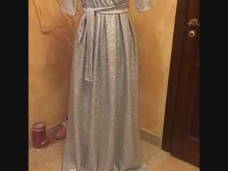 Платье Анжелика цвет серебро