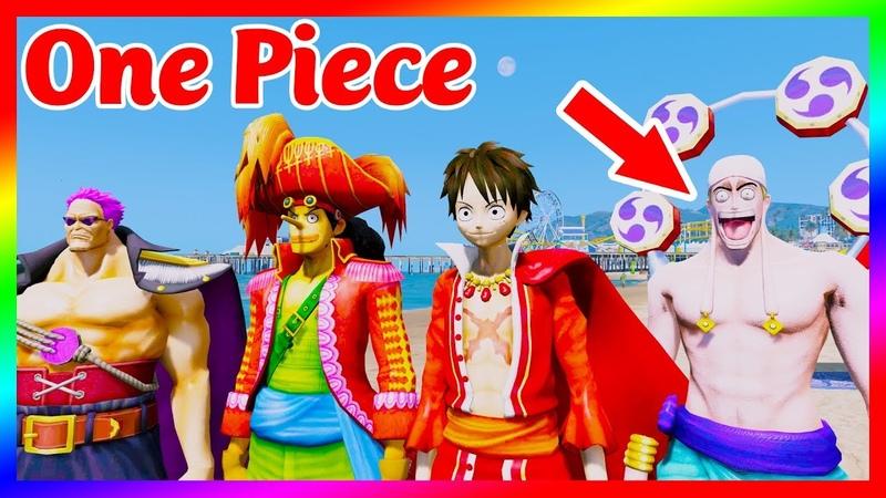 GTA 5 MODS - Nội Chiến Giữa LUFFY USOPP ZEPHYR và ENEL | GTA 5 Mods One Piece | GTA5MODAZ
