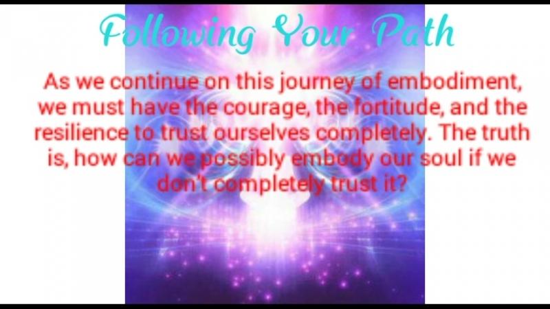 Following your Path - Pleiadian Eyha