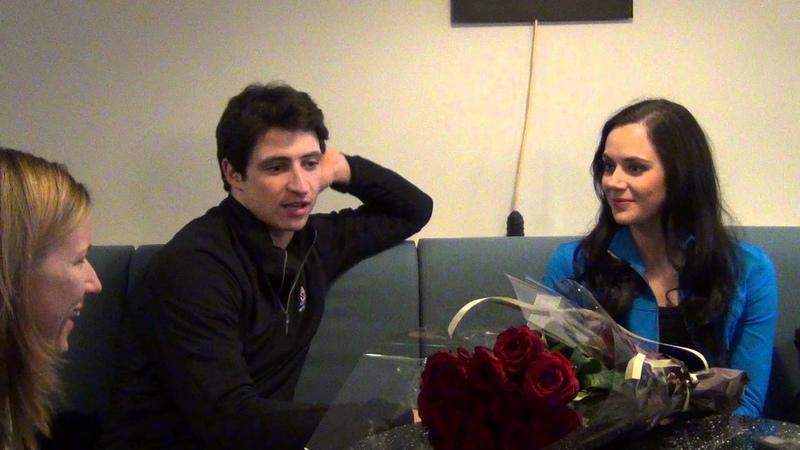 Fan meeting with Tessa Virtue Scott Moir 17 11 2013 Paris part 1