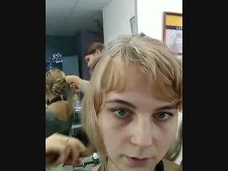 воздушный пучок для волос