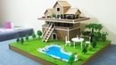 How To Make A Beautiful Mansion House From Cardboard Dream House Project For Kids