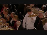 A waiter at the Nobel Banquet accidentally dropped some food on the President of the Royal Swedish Academy of Sciences