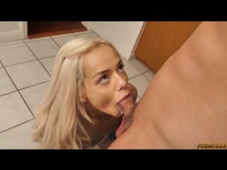 Elsa Jean [ Teens home blonde blowjob cumshot sex porn минет deep throat tiny amateur web girl трахает девку ]