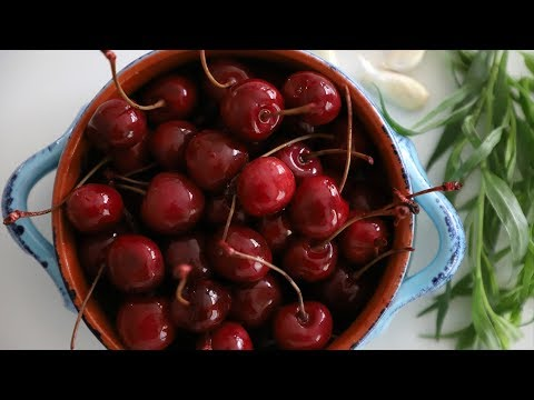 The Most Unique Pickled Cherries - Pickled Fruits - Heghineh Cooking Show