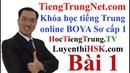 Khóa học tiếng Trung online Giáo trình Hán ngữ BOYA Sơ cấp 1 Bài 1