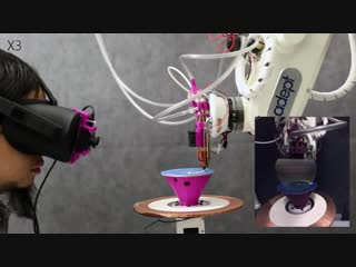 Robotic 3D Printer and Augmented Reality Interactive
