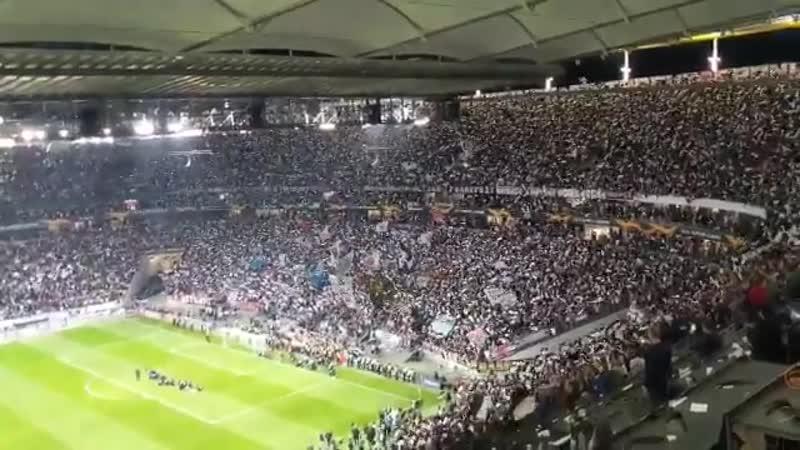 Радость немецких болельщиков после выхода в полуфинал Лиги Европы