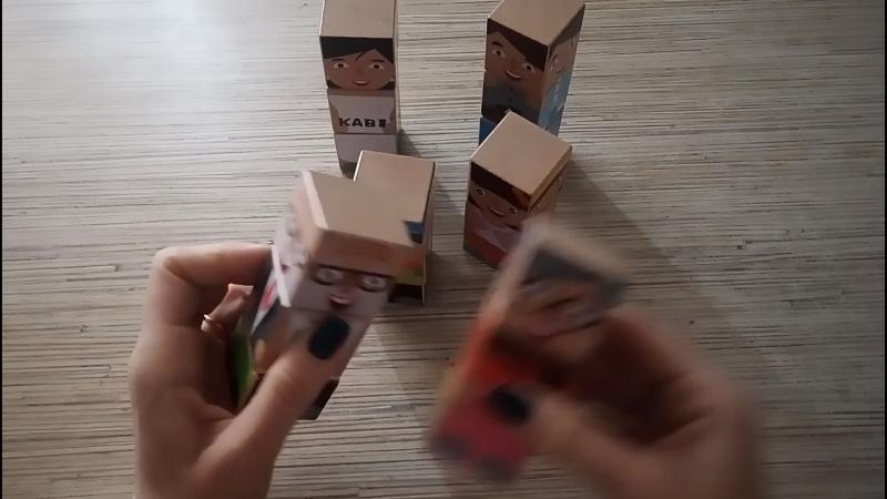 Кубики конструктор семья