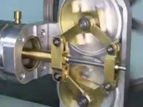 Stirling Engine with Rhombic Drive highspeed