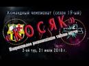 КОСЯК. Чемпионат (19-ый сезон), 2-ой тур: 21.07.18.: Цунами Mix ~ Молния Mk.