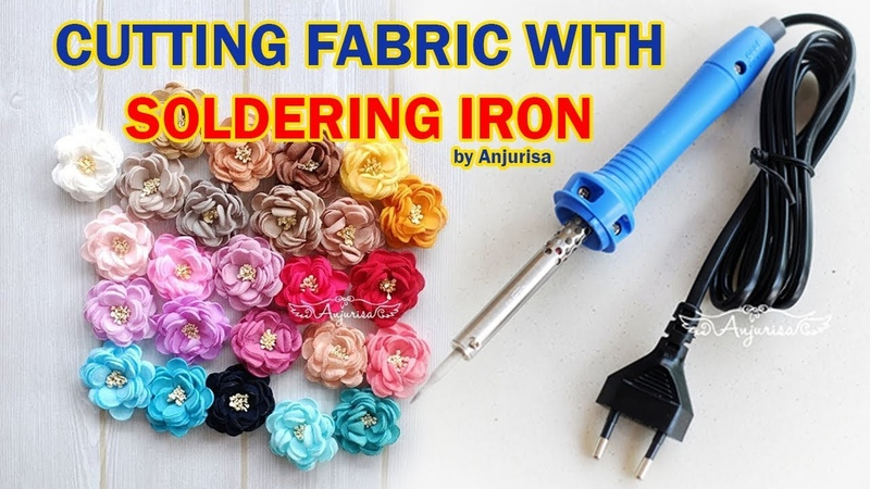 Cut a Flower Shape Fabric using Soldering Iron || Memotong Kain dengan Cetakan dan Solder