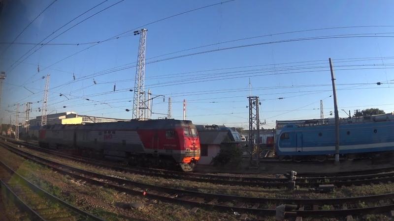 Отправление со ст. Кавказская (из окна поезда)