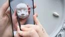 Лепим голову кукле Самозатвердевающий пластик Будуарная кукла