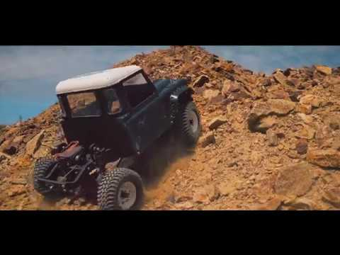 CUSTOM LAND ROVER CRAWLING RC TRUCK TOYOTA HILUX, ROCK BOUNCER