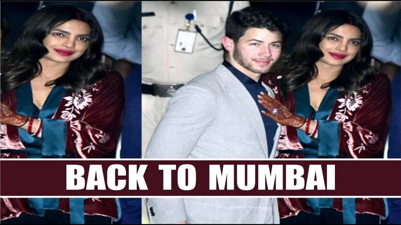 Priyanka Chopra And Nick Jonas Are Back In Mumbai After Delhi Reception Party