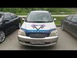 139-й авто криптовалюты Prizm в Новосибирске, Серебристая Toyota Nadia, в754нм, 154 Rus