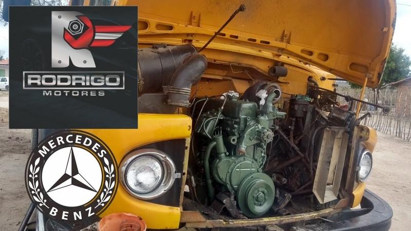 Motor do MB 1113 primeiros testes pós reparo