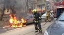Невероятно! Загоревшаяся машина поехала. Пожар Daewoo Espero Люберцы улица Калараш