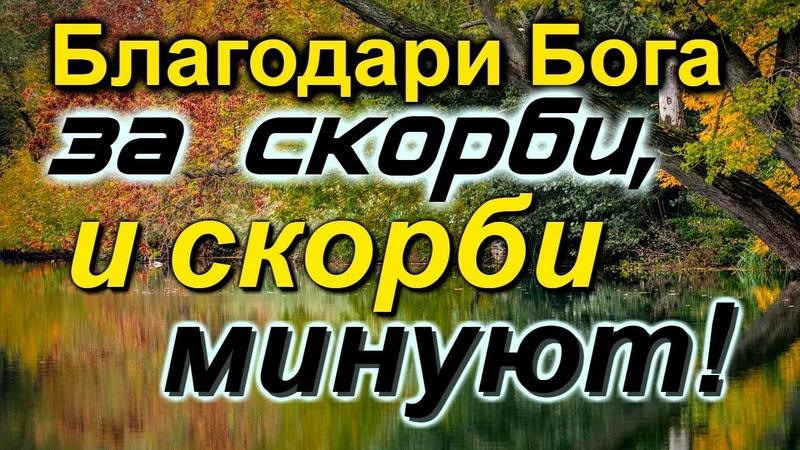 НИЧЕГО НЕ БОЙСЯ!...Благодари Бога за все Духовные наставления - Радонежские старцы