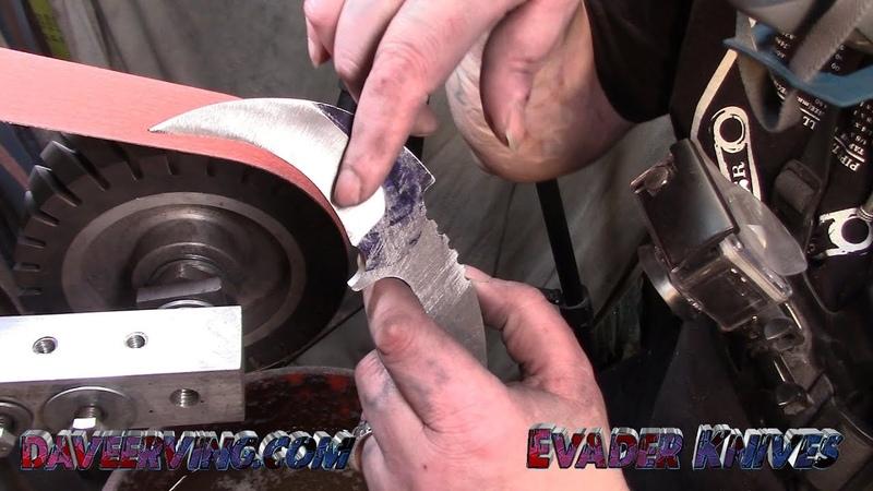 Custom Karambit Grinding pre heat treat Bevels