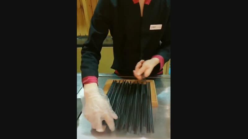 Work smarter, not harder; correcting chopsticks.
