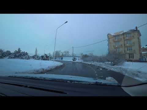 Анапа Витязево 16 01 2019 Выпал снег
