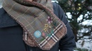 DIY 프랑스자수 목도리 만들기 with 애플톤 울사 │Embroidery Wool Muffler│How To Make Crafts Tutorial